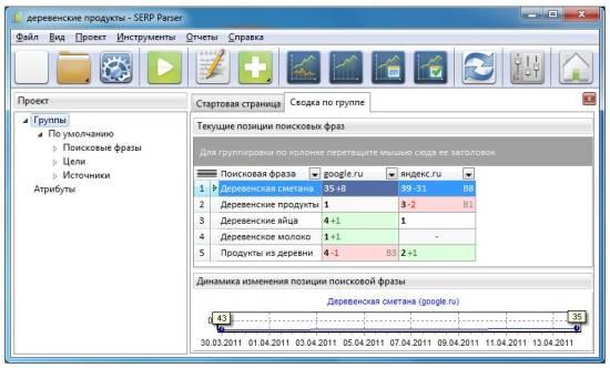 Программа SERP Parser